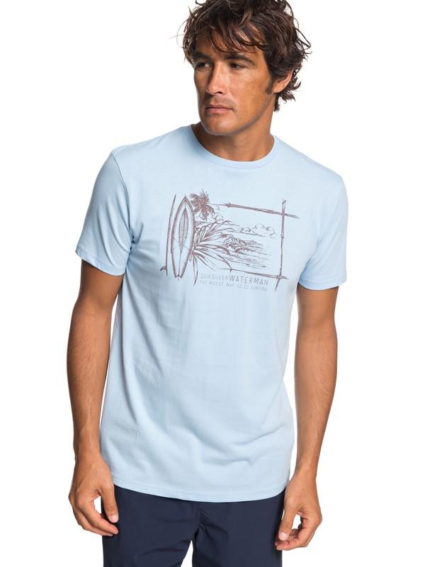 0 Waterman Simple Lines - Camiseta para Hombre Azul EQMZT03143 Quiksilver