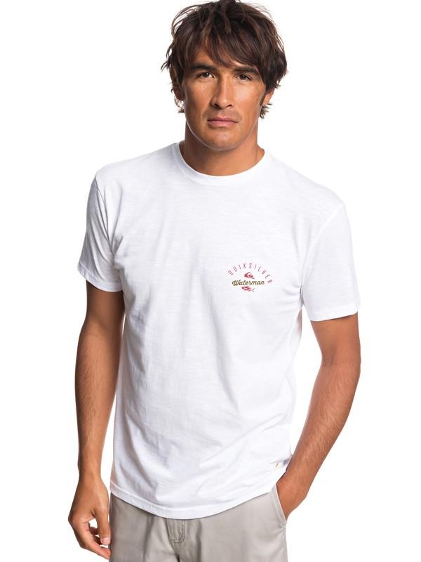0 Waterman Aztec Fish - Camiseta para Hombre Blanco EQMZT03145 Quiksilver