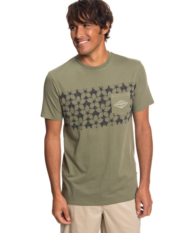0 Waterman Planet Of The Lost - Camiseta con Bolsillo para Hombre Beige EQMZT03150 Quiksilver