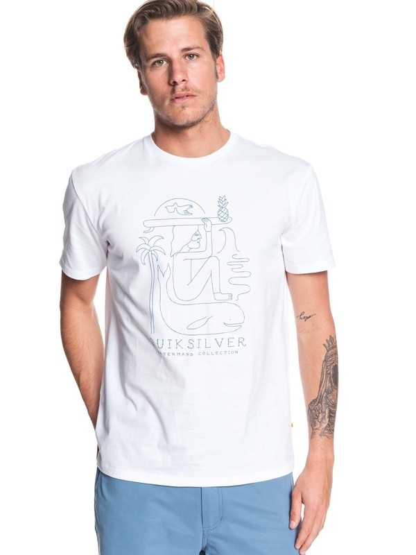 0 Waterman Vibes Alive Tee White EQMZT03169 Quiksilver