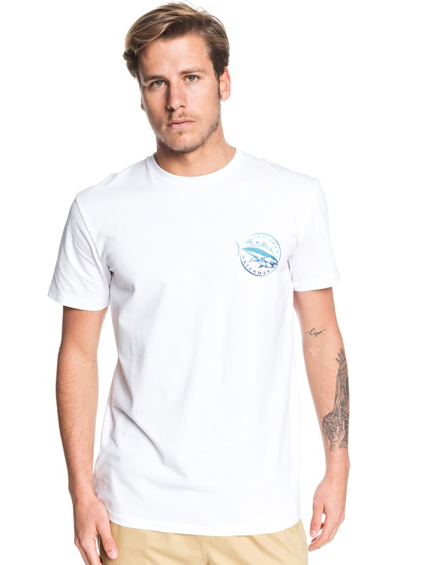 0 Waterman Quick Swimmer Tee White EQMZT03179 Quiksilver