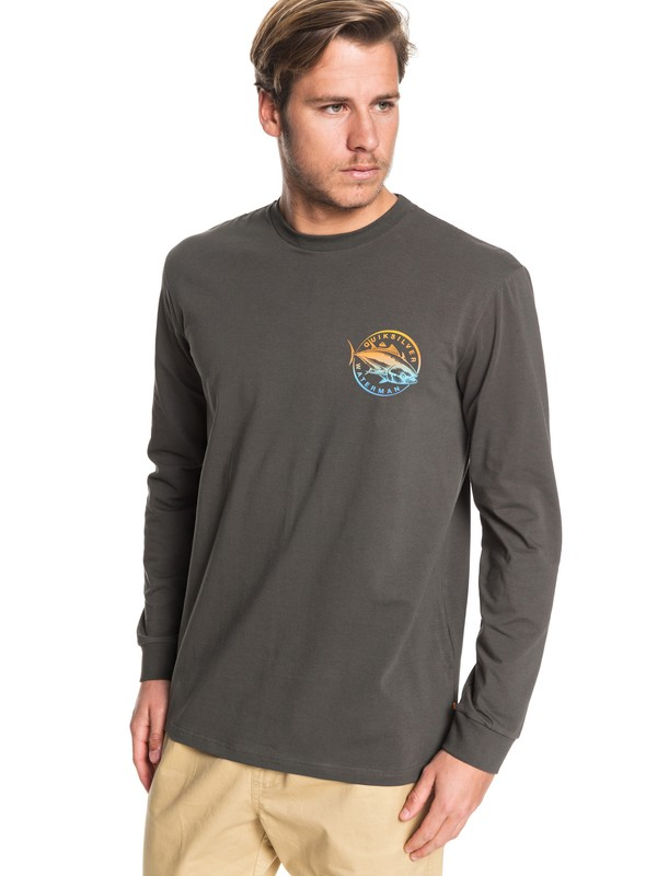 0 Waterman Quick Swimmer Long Sleeve Tee Black EQMZT03182 Quiksilver