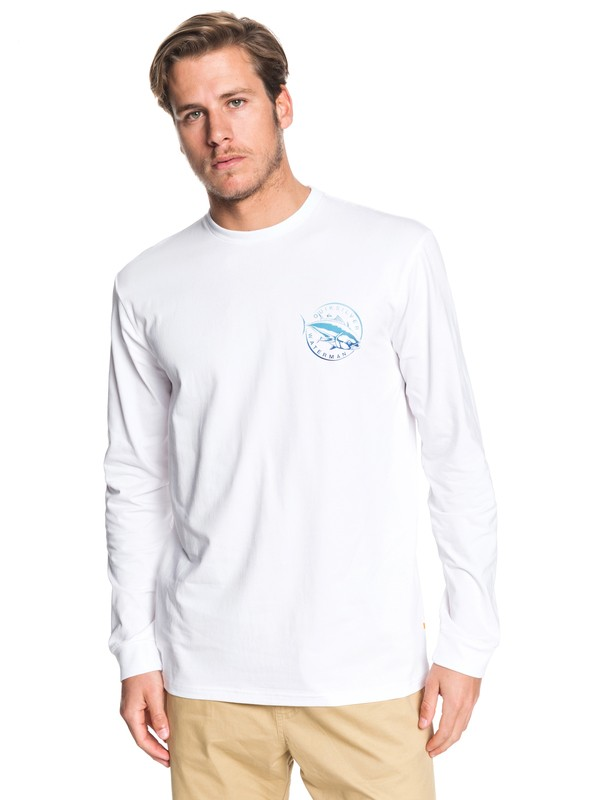 0 Waterman Quick Swimmer Long Sleeve Tee White EQMZT03182 Quiksilver
