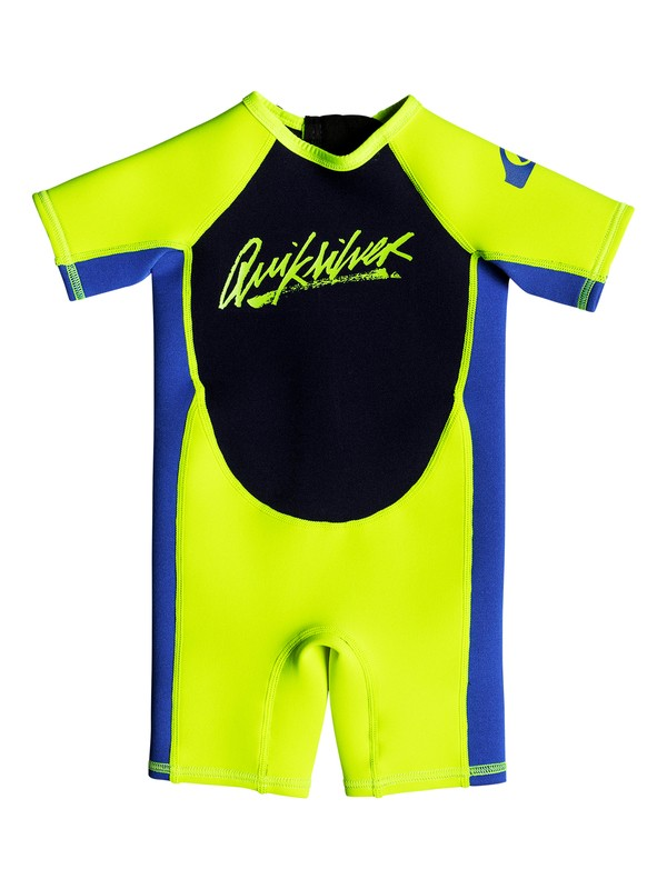 0 1.5mm Syncro - Short Sleeve Back Zip Springsuit for Toddlers Yellow EQTW503002 Quiksilver