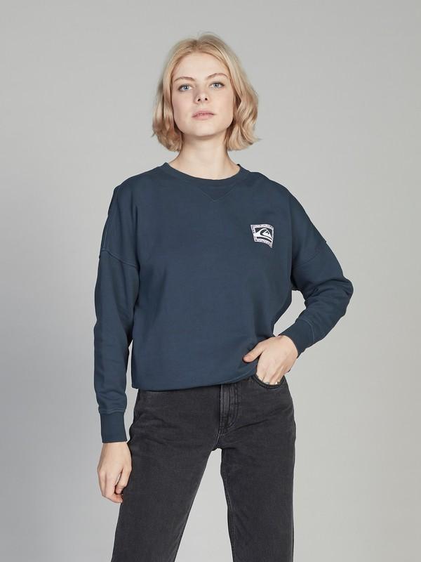 0 Quiksilver Womens Boxy Sweatshirt Black EQWFT03001 Quiksilver