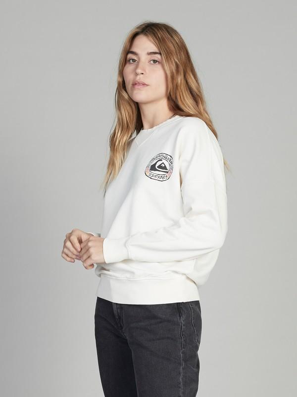 0 Quiksilver Womens Boxy Sweatshirt White EQWFT03001 Quiksilver