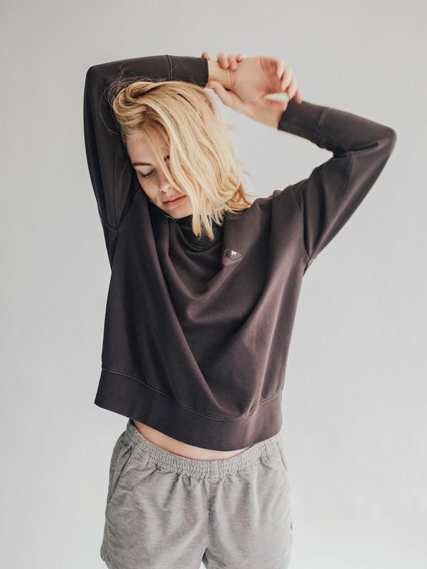 0 Quiksilver Womens - Boxy Sweatshirt Black EQWFT03001 Quiksilver