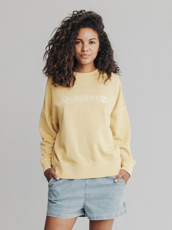 0 Quiksilver Womens Boxy Sweatshirt Yellow EQWFT03001 Quiksilver