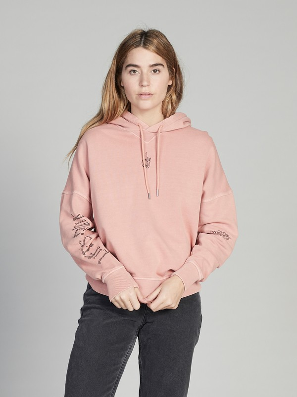 0 Quiksilver Womens Boxy Hoodie Pink EQWFT03002 Quiksilver