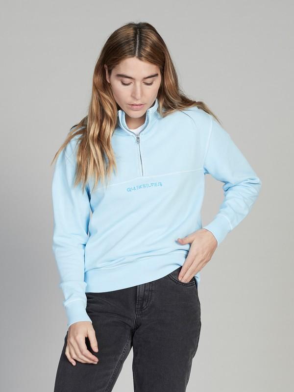 0 Quiksilver Womens Half-Zip Sweatshirt Blue EQWFT03004 Quiksilver
