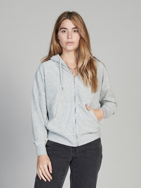 0 Quiksilver Womens Zip-Up Hoodie Grey EQWFT03005 Quiksilver