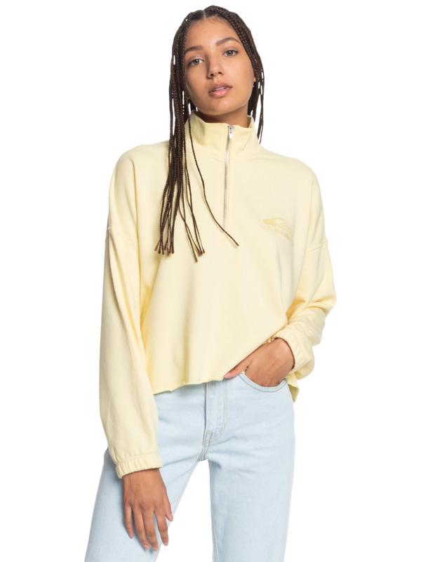 Flying Over - Organic Half-Zip Sweatshirt for Women  EQWFT03036