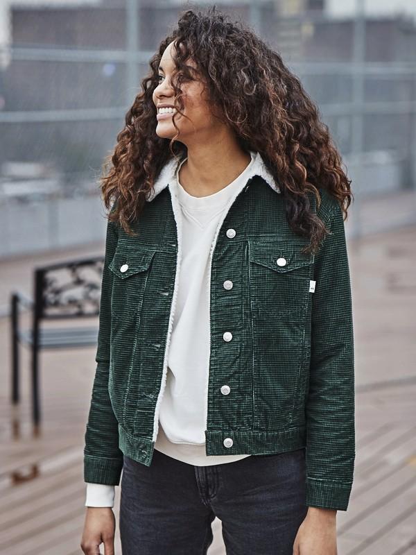 0 Quiksilver Womens - Veste en velours côtelé pour Femme Vert EQWJK03002 Quiksilver