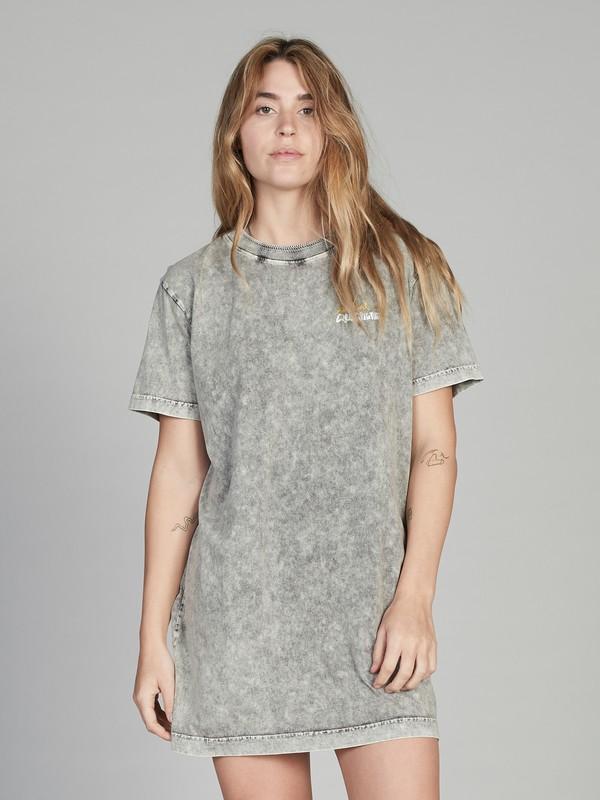 0 Quiksilver Womens Short Sleeve T-Shirt Dress Black EQWKD03002 Quiksilver