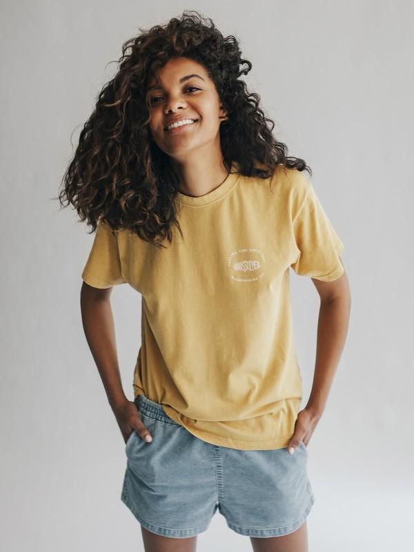 0 Quiksilver Womens - T-shirt pour Femme Jaune EQWKT03001 Quiksilver