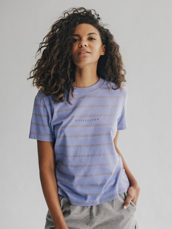 0 Quiksilver Womens - Camiseta Crop para Mujer Violeta EQWKT03006 Quiksilver