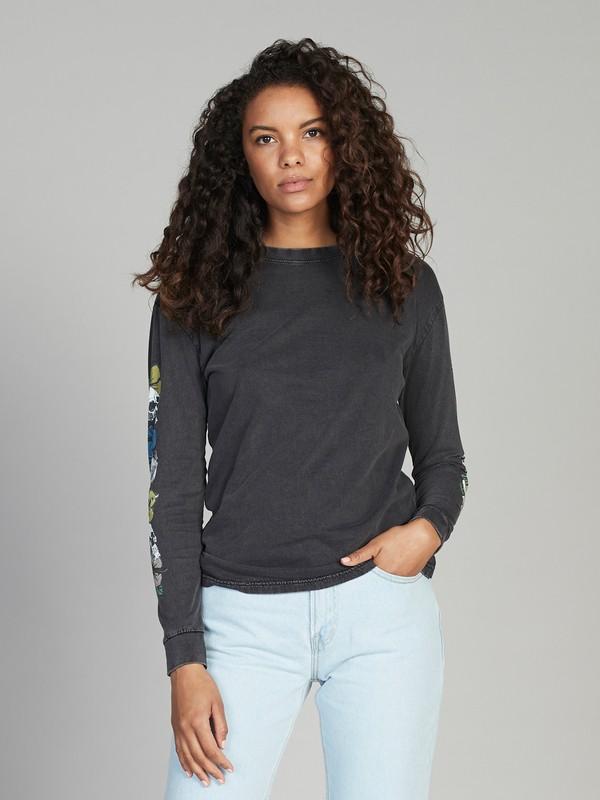 0 Quiksilver Womens Long Sleeve Tee Black EQWKT03013 Quiksilver