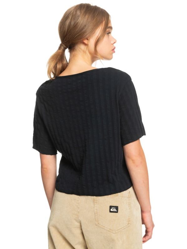 Wild Westland - Organic Short Sleeve Top for Women  EQWKT03089