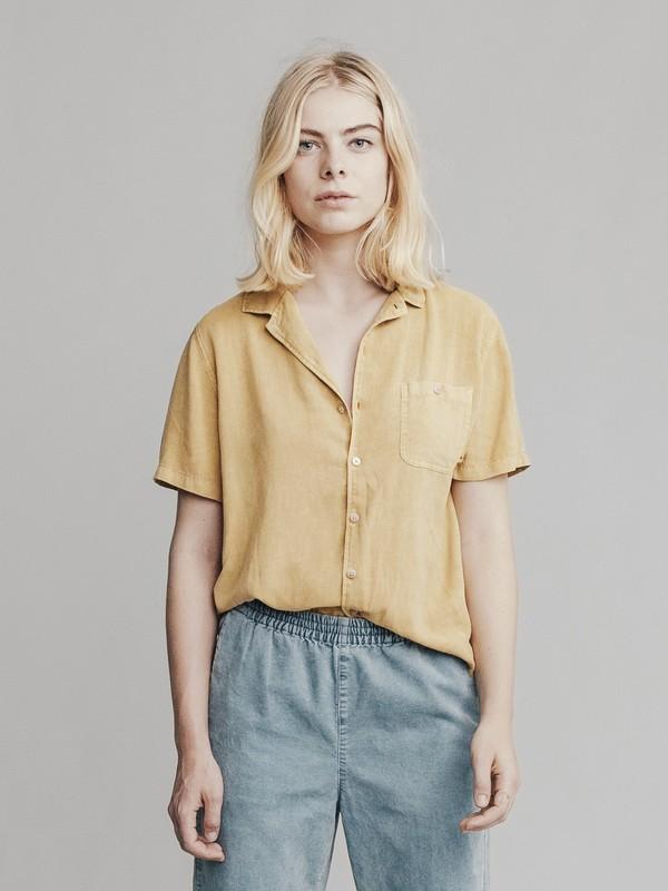 0 Quiksilver Womens - Pantalón de Pana con Corte más Ceñido Hacia el Bajo para Mujer Azul EQWNP03000 Quiksilver