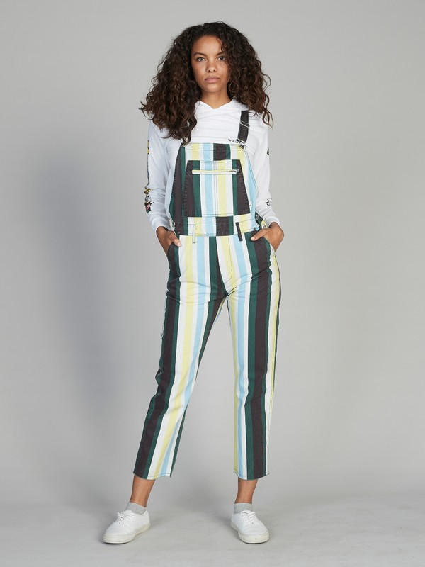 0 Quiksilver Womens Overalls White EQWNP03005 Quiksilver