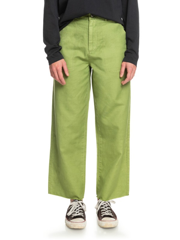 The Linen - Cropped Flares for Women  EQWNP03026