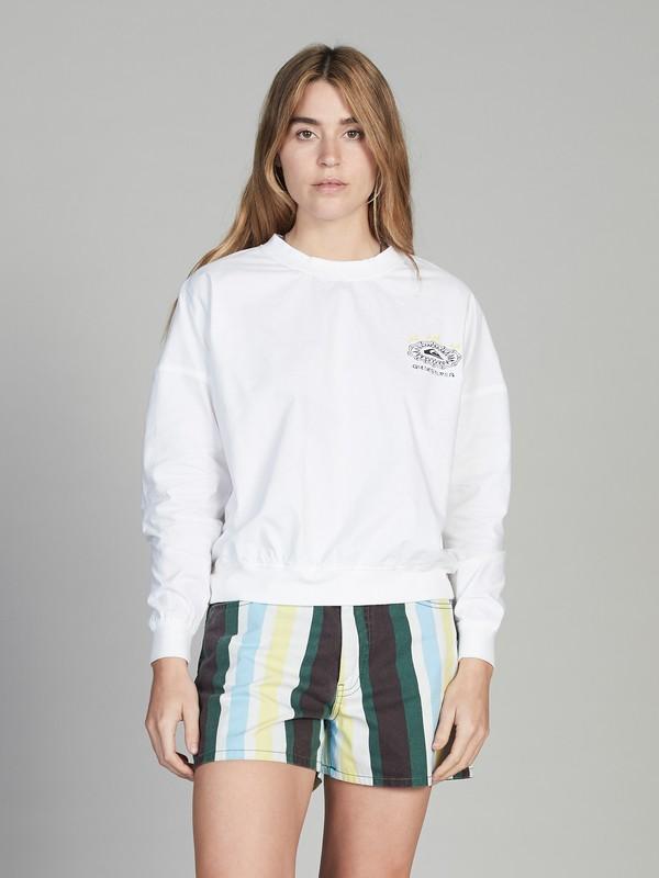0 Quiksilver Womens - Cropped Sweatshirt White EQWWT03013 Quiksilver