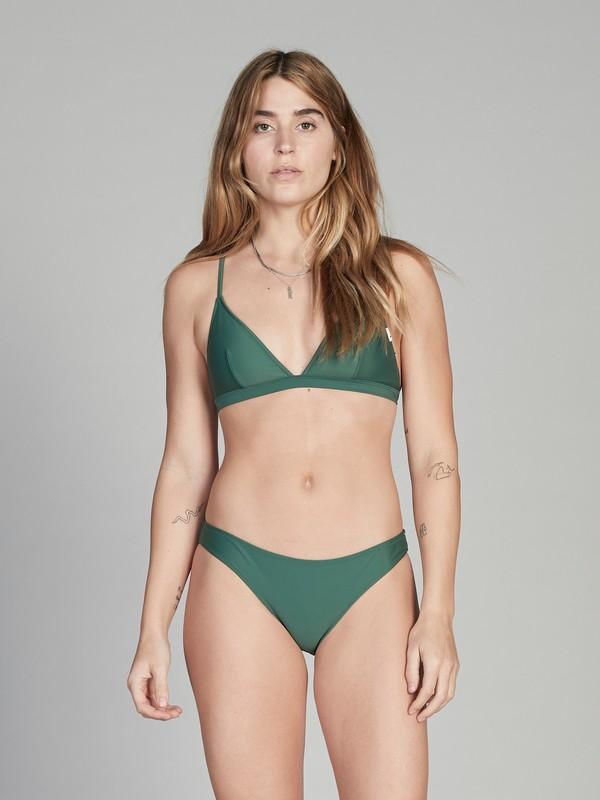 0 Quiksilver Womens Bikini Top Green EQWX303001 Quiksilver