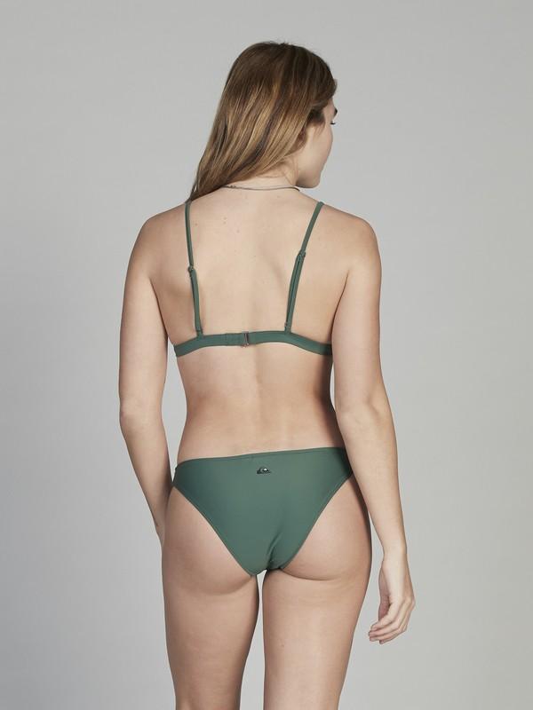 0 Quiksilver Womens Bikini Bottoms Green EQWX403002 Quiksilver