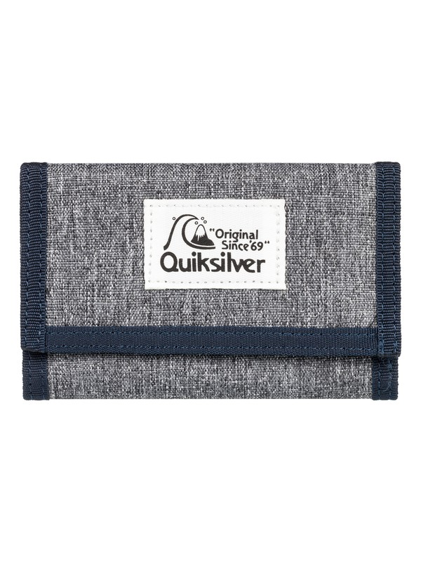 0 The Everydaily - Tri-Fold Wallet for Men Grey EQYAA03530 Quiksilver