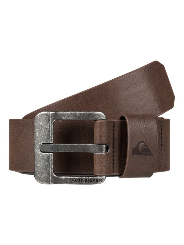 0 Main Street - Fake Leather Belt Brown EQYAA03558 Quiksilver