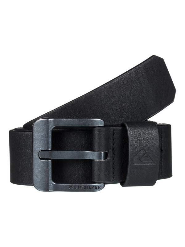 0 Main Street Fake Leather Belt Black EQYAA03558 Quiksilver