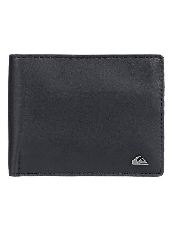 0 Acktor Bi-Fold Leather Wallet Black EQYAA03696 Quiksilver
