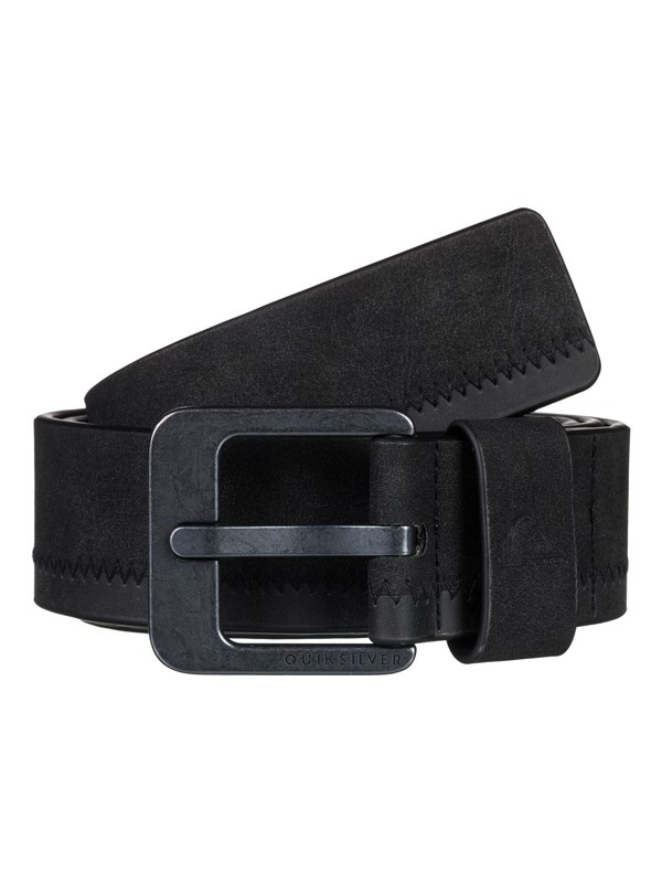 0 Binge - Faux Leather Belt Black EQYAA03706 Quiksilver