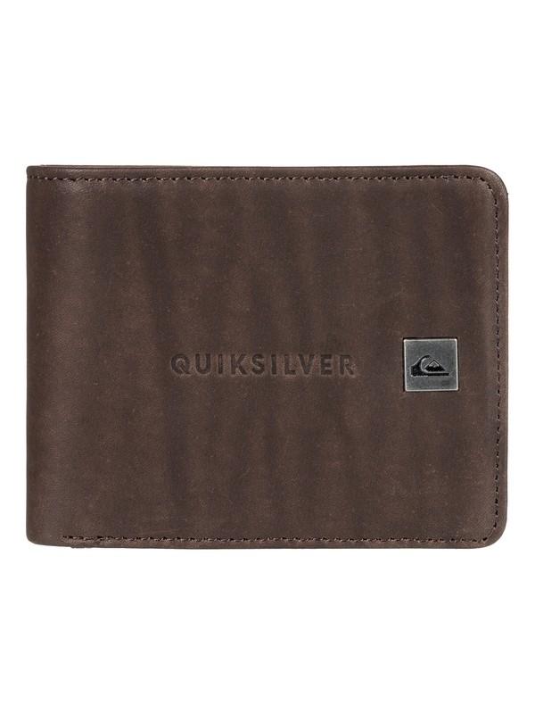 0 Mack Bi-Fold Leather Wallet Brown EQYAA03721 Quiksilver
