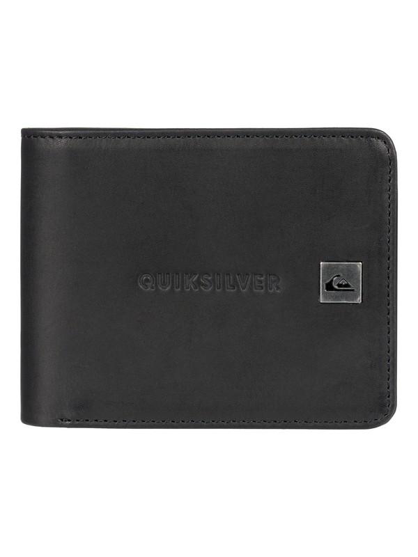 0 Mack Bi-Fold Leather Wallet Black EQYAA03721 Quiksilver