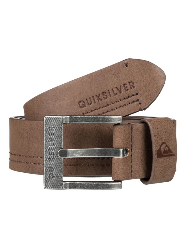 0 Stitchy Faux Leather Belt Brown EQYAA03727 Quiksilver