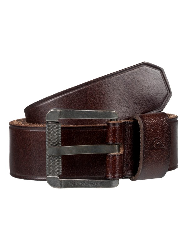 0 The Everydaily Leather Belt Brown EQYAA03737 Quiksilver