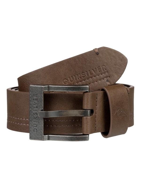 0 Cinturón de piel falsa Stitchand Marrón EQYAA03738 Quiksilver