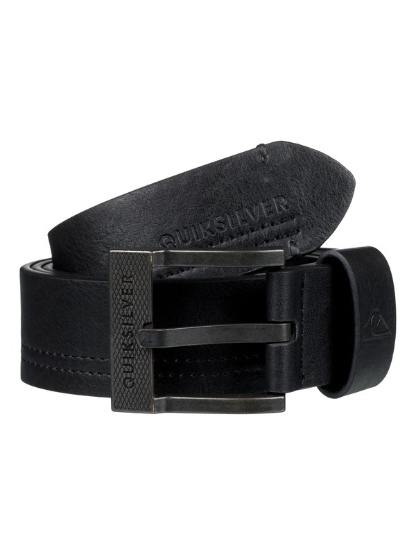 0 Stitchy Faux Leather Belt Black EQYAA03738 Quiksilver