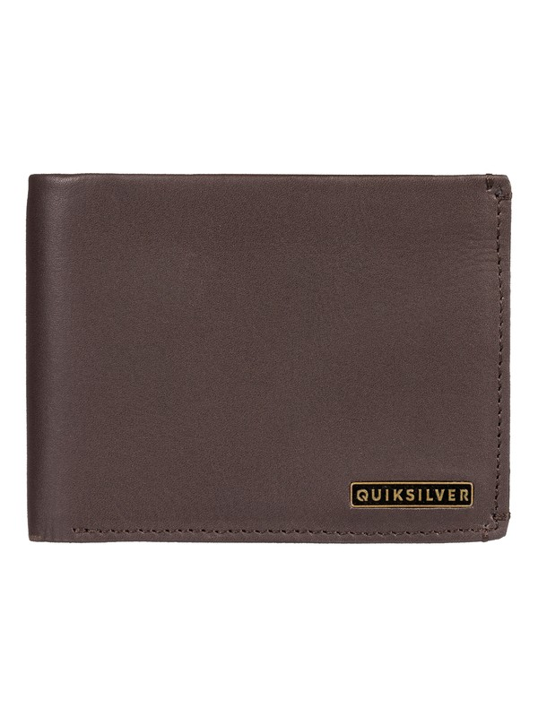 0 Acktor Bi-Fold Leather Wallet Brown EQYAA03745 Quiksilver