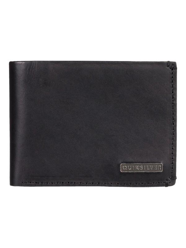 0 Acktor Bi-Fold Leather Wallet Black EQYAA03745 Quiksilver