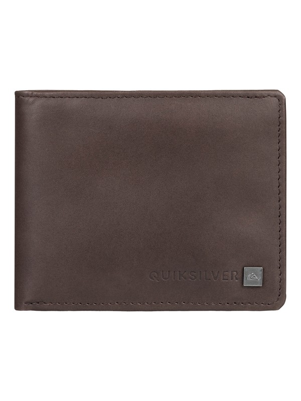 0 Curvecutter - Tri-Fold Wallet Brown EQYAA03746 Quiksilver