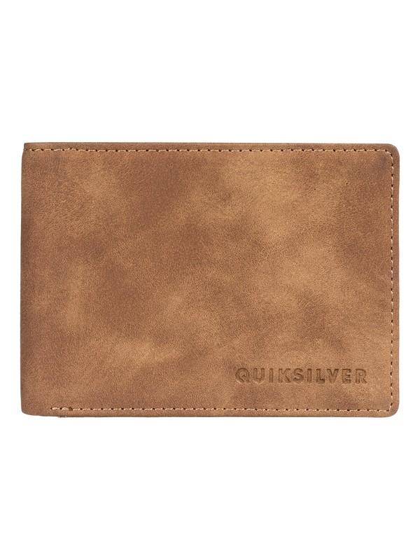 0 Slim Vintage - Bi-Fold Wallet Beige EQYAA03764 Quiksilver
