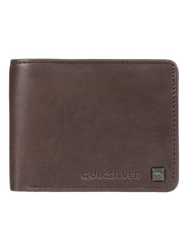 0 Mack Vi BiFold Leather Wallet Brown EQYAA03773 Quiksilver