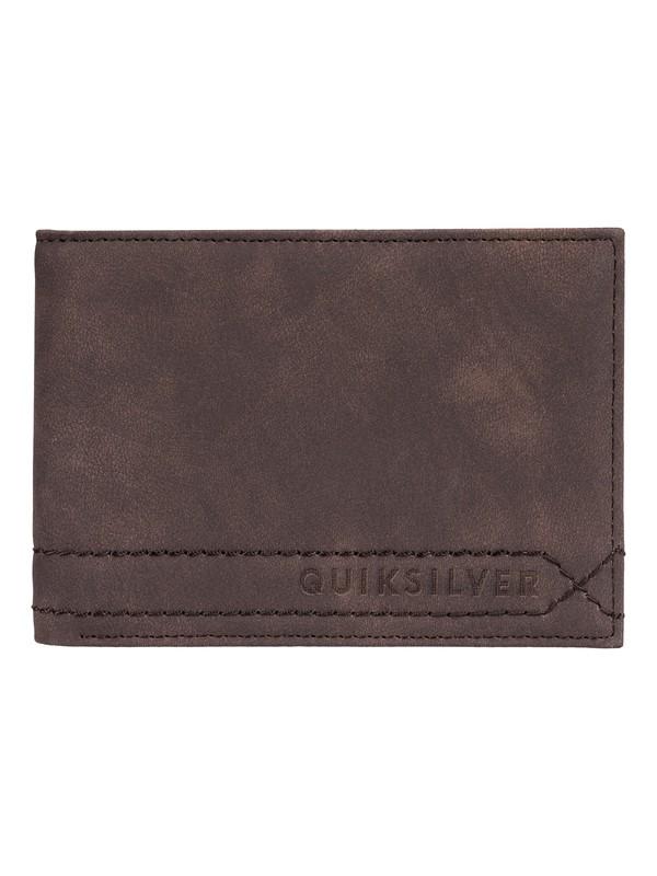 0 Stitchy BiFold Wallet Brown EQYAA03775 Quiksilver