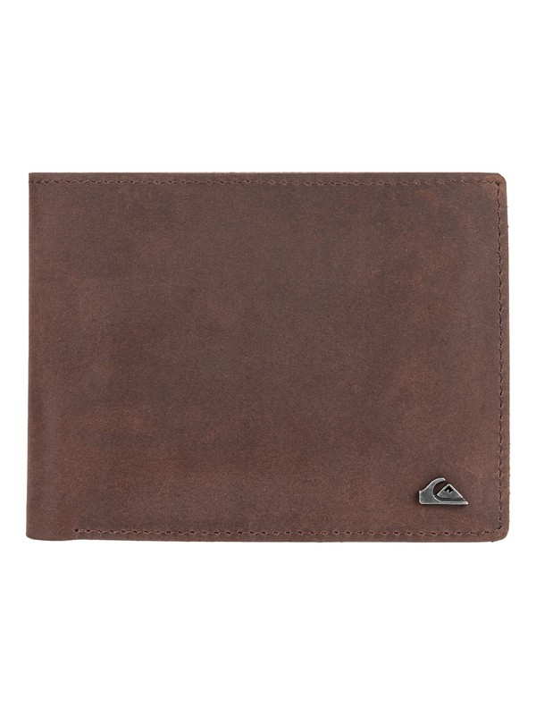 0 Acktor Bi-Fold Leather Wallet Brown EQYAA03796 Quiksilver