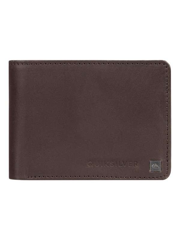 0 Mack Bi-Fold Leather Wallet Brown EQYAA03813 Quiksilver