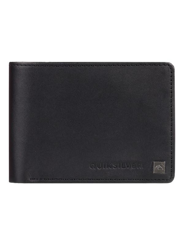 0 Mack Bi-Fold Leather Wallet Black EQYAA03813 Quiksilver