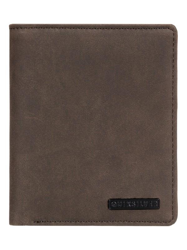 0 Trilogy Update Bi-Fold Leather Wallet & Card Holder Brown EQYAA03819 Quiksilver