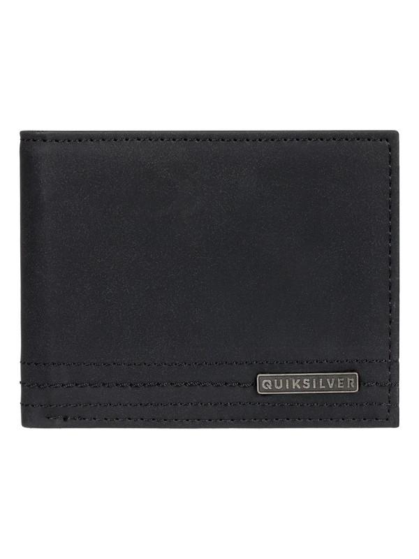 0 Stitchy Wallet - Cartera de Cuero de Doble Hoja para Hombre Negro EQYAA03823 Quiksilver